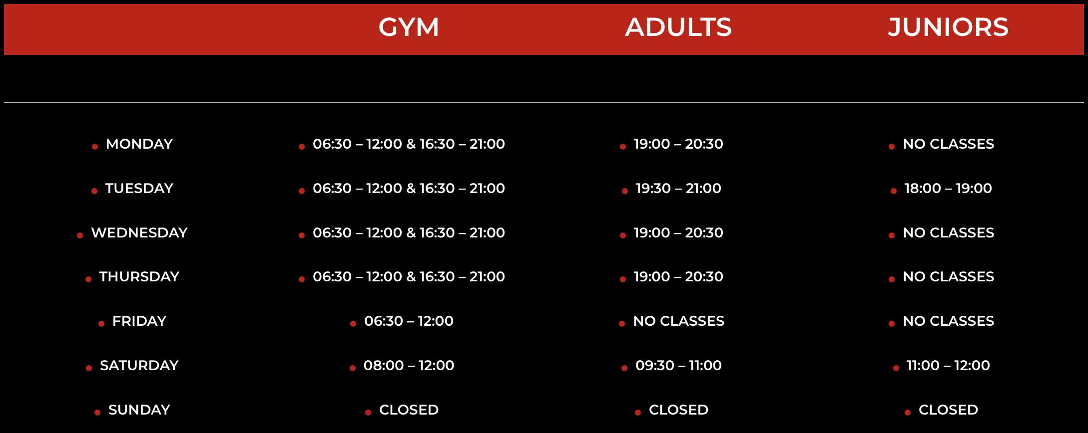 MKM Class time Table