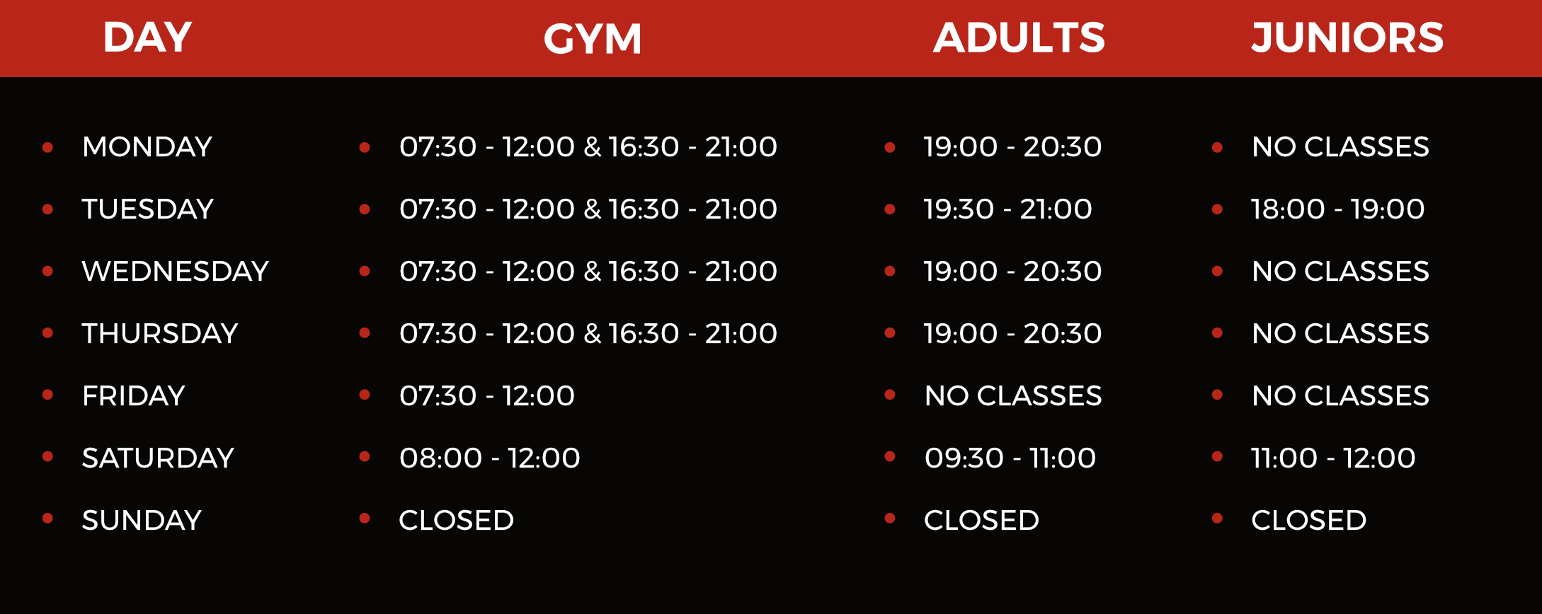 MKM Time Table